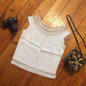 Tops - White vintage blouse